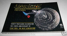 Star Trek The Next Generation Postcards Booklet - 30 Postcards Total VGC Rare