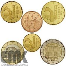Andorra - 3,85 Euro 2014 - Euro-Kursmünzen-Satz - stgl. - Bfr. Rollenware