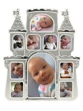 Castle Two-Tone Silver Collage Frame New!! Disney Princess Or Prince.Shower Gift