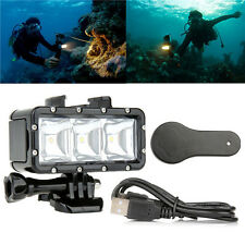 Underwater Waterproof Diving Light Spot LED Mount for GoPro Hero 4 3+ 3 Camera