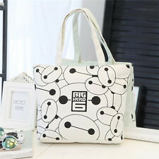 Fashion Style Women Ladies Cute Cartoon Shoulder Bag Canvas Handbag Shopping Bag
