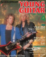 Young Guitar Magazine April 1987 Japan Night Ranger Ratt Lizzy Borden