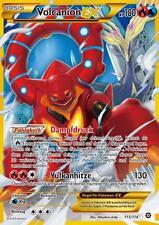 Pokemon XY Karte, Volcanion EX, Shiny, Dampfkessel, 115/114