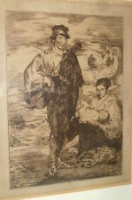Antique original Etching Edouard Manet Drawing Les Gitanos The Etching Zigeuner