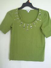 NINE WEST Women Green Blouse Shirt Top Sz S