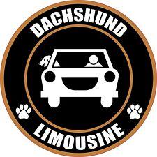 """LIMOUSINE DACHSHUND 5"""" DOG STICKER"""