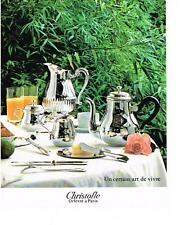 PUBLICITE  1979   CHRISTOFLE   orfevre à Paris  art de la table