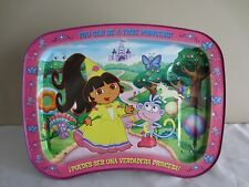 Nick Jr Dora the Explorer Princess Metal Tin TV Tray with Legs  2006 Kidz Trays