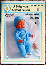 DOLLS KNITTING PATTERN no. 267 for BABYBORN.by Val Young