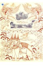Thai yantra sak antique book pattern Tattoo Himmapan creatures Exotic animal