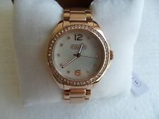 New Coach 14502104 Ladies Tristen Crystal Rose Gold-Tone Stainless Steel Watch