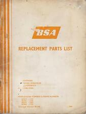 BSA A50 ROYAL STAR A65 LIGHTNING FIREBIRD SCRAMBLER THUNDERBOLT PARTS CATALOGUE