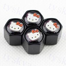 Auto Accessories Wheel Tyre Valve Caps Tires Parts FOR Cover Hello Kitty Styling