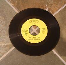 """45 RPM Rockabilly By Merle Kilgore, """"Baby, I Got It!"""" on Epic"""