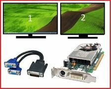 HP Elite 8200 8100 8000 SFF Low-Profile Dual VGA Monitors Video Card PCI-e