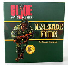 GI Joe Action Soldier Doll Masterpiece Edition Moveable Parts History Book 12in