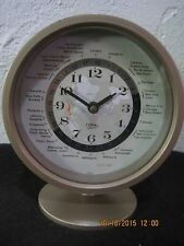RARE COPAL WORLD CLOCK HN492