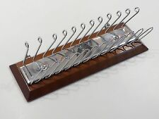 Vintage Wood and Metal Tie & Belt Rack by Selectie Made in USA
