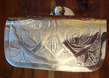 Moroccan silver colour  hand engraved toilet paper roll holder