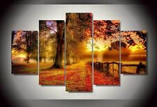 Modern Abstract Oil Painting Wall Decor Art Huge - Landscape Autumn Forest Field