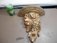 "Gold Antique Style Finish  -  CORBEL SHELF SCONCE  Wall shelves, 12"" Tall"