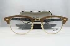 Ray-Ban RB 5154-M 5560 Clubmaster Wood New Authentic Eyeglasses 51mm w/Case