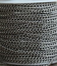 5M Dark Silver Color Rustless Against Rusting Aluminum Link Chains 1.0X6X4mm