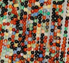 3MM  PARTY MIXED AGATE AND JADE GEMSTONE RAINBOW ROUND 3MM LOOSE BEADS 16""
