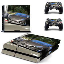 Sony PS4 Console and Controller Skins / Decal -- Fast Car (#0041)
