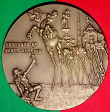 ART / PAINTER DALI / TENTATION OF SAINT ANTHONY BRONZE MEDAL by A.R / A.V.