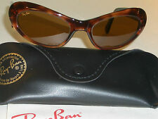 VINTAGE B&L RAY BAN W2523 BROWN B15 UV CLR CONTRAST CATS EYE RITUALS SUNGLASSES