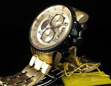 INVICTA AVIATOR 17205 MENS 18k GOLD ION PLATED CHRONOGRAPH WATCH 100% AUTH BNIB