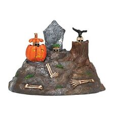 DEPT 56 SNOW VILLAGE HALLOWEEN ANIMATED SKULLS