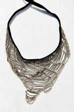 Urban Outfitters Silver What a Mesh Web Necklace