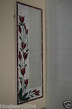 Mosaic Red Tulip Oblong Mirror Rectangle 60 x 21 cm