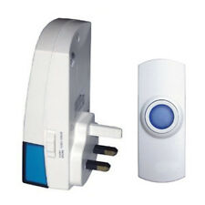 A1 - WIRELESS Cordless PLUG-IN DOORBELL Door Chime 100m Range Portable 32 MELODY