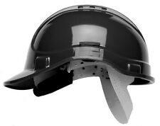 Scott HC300 Vented Safety Helmet Hard Hat With Sweatband - Terylene Cradle BLACK