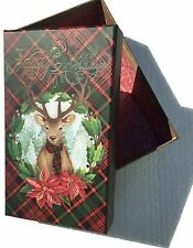 pUNCH sTUDIO Small Christmas Box ~ Winter Reindeer Wreath 61062