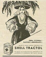W3009 Lubrificante Shell Tractol - Pubblicità 1935 - Advertising