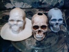 Skull Candle Holder Mold Latex/Rubber for Concrete/Plaster