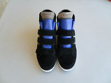 Coach Dreama Black Blue Leather Fashion Sneakers Women's Shoes 7 B