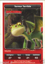 Carte Carrefour Dreamworks n° 135/216 - DRAGONS - Terreur Terrible