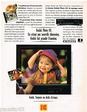 PUBLICITE ADVERTISING  105  1992   KODAK  lecteur photo CD