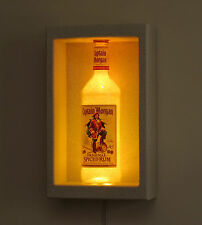 Captain Morgan Rum Shadow Box Sconce Display LED Remote Bottle Lamp Bar Light