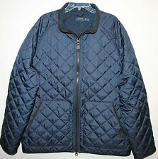Polo Ralph Lauren Big and Tall Mens Navy Quilt Down Corduroy Accents Jacket 4XLT