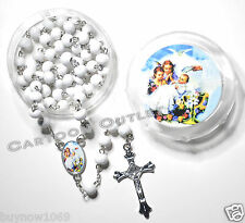 12 pc BAPTISM FAVORS ROSARY RECUERDOS GIFTS MI BAUTIZO ROSARIO LOT 12 BOYS GIRLS