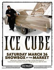 ICE CUBE 2011 SEATTLE CONCERT TOUR POSTER - Hip Hop Rap Music, N.W.A., Compton!