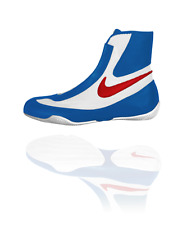 NEW Men's Nike Machomai Mid-Top Boxing Shoes Size: 10.5 Color: Red/White/Blue