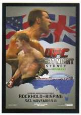 2015 Topps UFC Chronicles Fight Poster Card FPR-UFN 55 Rockhold vs. Bisping