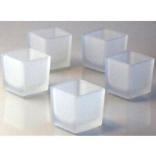 12 square frosted glass wedding party event table room decoration candle holder